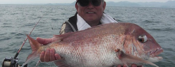 70cm、3キロの大鯛